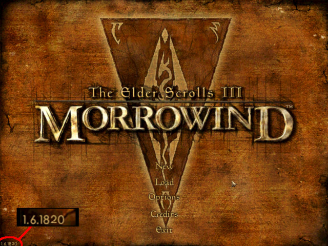 Morrowind GOTY 1.6.1820